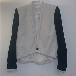 Helmut Lang black and white cropped blazer